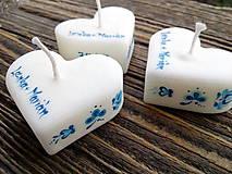 Darčeky pre svadobčanov - Svadobné sviečky  folklór s textom/modré - 8172547_