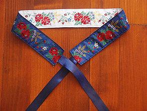 Opasky - Folklórny opasok obojstranný šírka 5,5cm - viac farieb krojovky - 8171693_