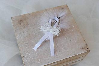 Pierka - Svadobné pierko perlička veľké - 8172636_