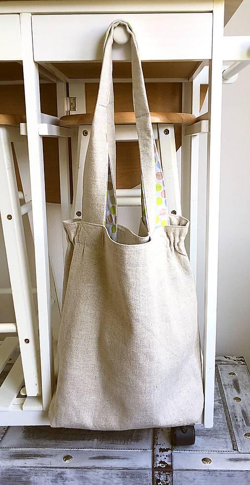 Nákupná ľanová taška   Abreadbag - SAShE.sk - Handmade Nákupné tašky e400438adcc