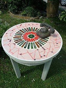 Nábytok - Stôl mozaikový... - 8174958_
