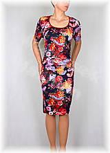 Šaty - Šaty s řasením v pase vz.350 - 8174657_