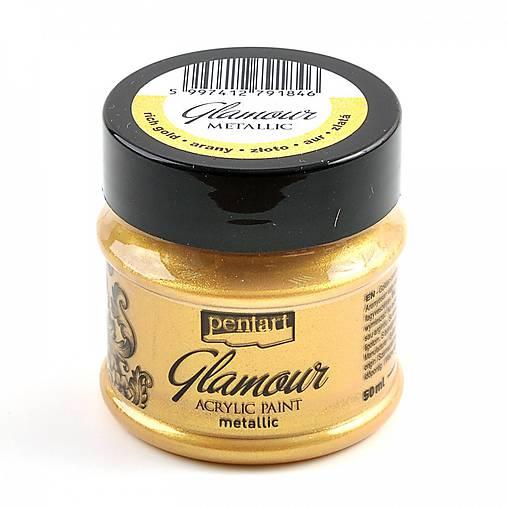 Akrylová farba 50 ml, Pentart - GLAMOUR