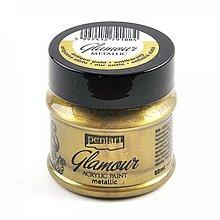 Farby-laky - Akrylová farba 50 ml, Pentart - GLAMOUR (antická zlatá) - 8175083_