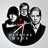 Hodiny - Depeche Mode - vinylové hodiny (vinyl clocks) - 8174815_