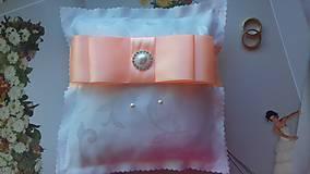 Prstene - svadobný vankúšik pod obrúčky - 8176774_