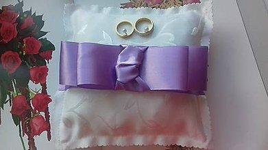 Prstene - svadobný vankúšik pod obrúčky - 8176825_