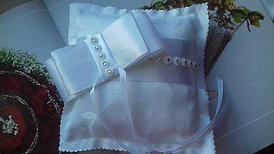 Prstene - svadobný vankúšik pod obrúčky - 8176851_