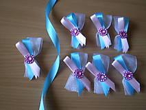 svadobné pierko v ružovo-modrom prevední III.