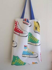 Nákupné tašky - taška barevné tenisky - 8176876_