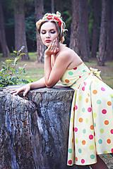 Šaty - Koktejlky v štýle 50´s Mada - 8176146_