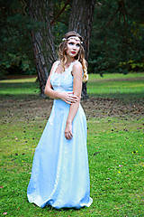 Šaty - Svadobné/spoločenské šaty s ľadovými kvetmi Muriel - 8176340_