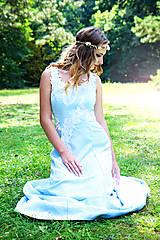 Šaty - Svadobné/spoločenské šaty s ľadovými kvetmi Muriel - 8176341_