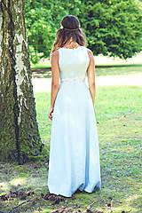 Šaty - Svadobné/spoločenské šaty s ľadovými kvetmi Muriel - 8176342_