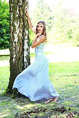 Šaty - Svadobné/spoločenské šaty s ľadovými kvetmi Muriel - 8176344_