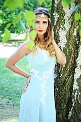 Šaty - Svadobné/spoločenské šaty s ľadovými kvetmi Muriel - 8176345_