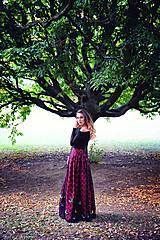 Šaty - Motýlia sukňa Melony + saténová blúzka grátis - 8176662_