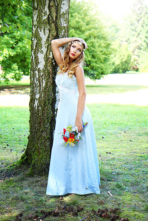 Svadobné/spoločenské šaty s ľadovými kvetmi Muriel