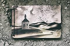 Papiernictvo - Fotoalbum klasický s autorskou ilustráciou ,,Fatamorgána,, - 8174538_