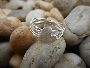 Prstene - Handmade prstienok srdiečko - 8175149_