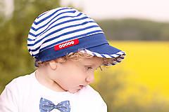 Detské čiapky - Navy šiltovka malý kapitán - 8174481_