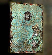 Papiernictvo - Vintage zápisník kvetinovej víly-posledný kus/diár 2021 - 8176581_