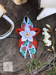 Pierka - Folklórne svadobné pierko červené - 8176928_