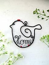 Dekorácie - vtáčik domáci - 8174535_