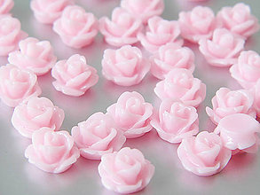 Komponenty - Živicový kabošon - Ružová ruža, 10x6mm, bal.1ks - 8175319_