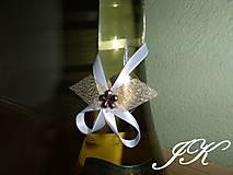 Drobnosti - Mašličky na fľaše - 8175262_