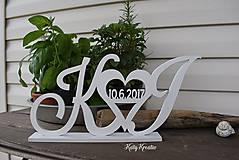 Dekorácie - stojace iniciály..objednávka - 8177745_