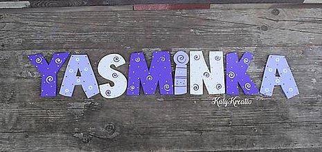 Tabuľky - 12cm písmenká Yasminka - 8177836_