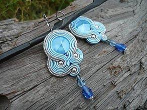 Náušnice - Soutache náušnice Crystal Sommer Blue - 8177700_