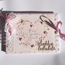 Papiernictvo - Svadobná kniha hostí. - 8177595_