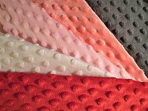 Textil - Minky vzokovník farieb- dievčatká - 8179283_