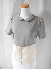 Tričká - dámska tričko-košeľa Pink stars - 8177309_