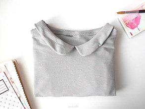 Tričká - zľava . dámska tričko-košeľa Pink stars - 8177324_