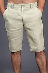 Nohavice - Pánske kraťasy Classic, prírodné. Pánske 100% konopné kraťasy - 8177299_