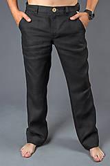 Nohavice - Pánske Classic, čierne. Pánske 100% konopné nohavice - 8177381_