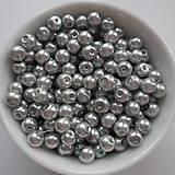 - Voskované perly 4mm-60ks (strieborná) - 8179402_