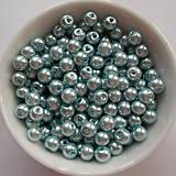 - Voskované perly 4mm-60ks (sv.modrá) - 8179407_