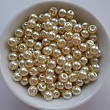 Voskované perly 4mm-60ks (oranž.krémová)