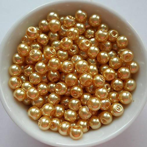 Voskované perly 4mm-60ks (zlatá)
