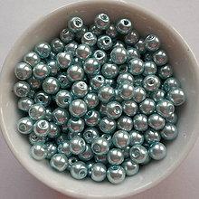 Korálky - Voskované perly 4mm-60ks (sv.modrá) - 8179407_