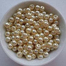 Korálky - Voskované perly 4mm-60ks (oranž.krémová) - 8179411_