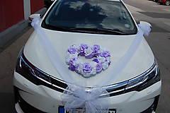 výzdoba svadobného auta svetlofialová aj v iných farbách