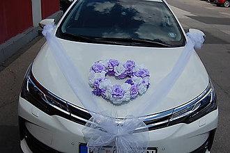 Pierka - výzdoba svadobného auta svetlofialová aj v iných farbách - 8177135_