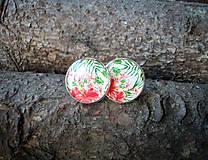 Náušnice - Kvetinové napichovačky 18 mm - 8177787_