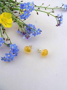 Náušnice - citrín náušnice striebro Ag925/1000 - 8179223_