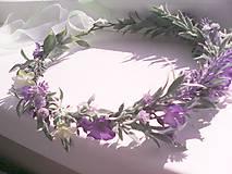 """Ozdoby do vlasov - Kvetinový venček do vlasov """"...keď vonia levanduľa..."""" - 8177393_"""